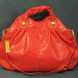NWT Gianni Bini Croc Embossed Patent Leather Bag